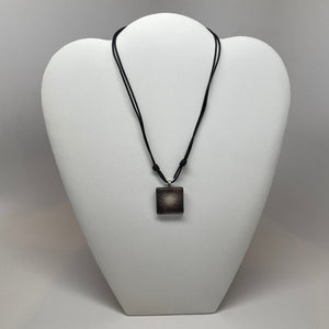 Globular Cluster Square Glass Pendant Necklace