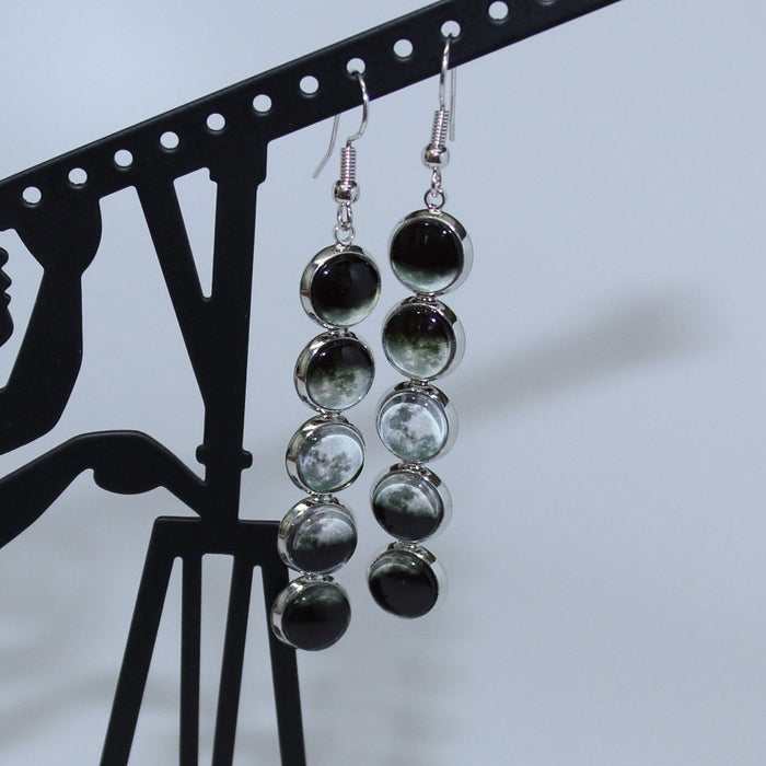 Moon Phases Drop Earrings