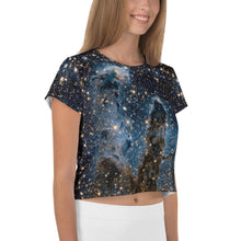 Load image into Gallery viewer, Pillars of Creation in Infrared by Hubble Cropped T-Shirt