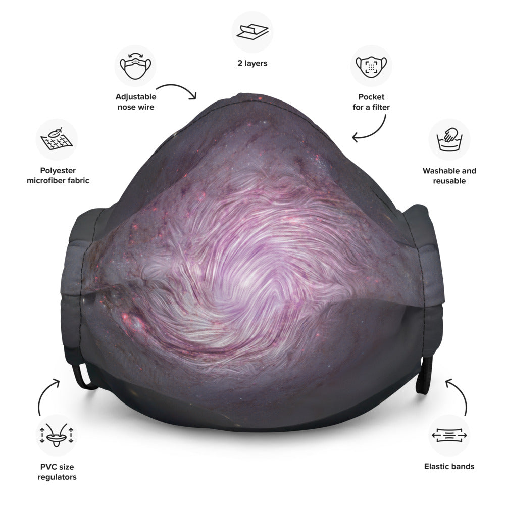 SOFIA NGC 1068 Galaxy Pleated Pocket Face Mask