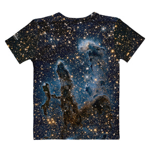 Pillars of Creation in Infrared by Hubble Fitted T-Shirt