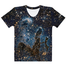 Load image into Gallery viewer, Pillars of Creation in Infrared by Hubble Fitted T-Shirt