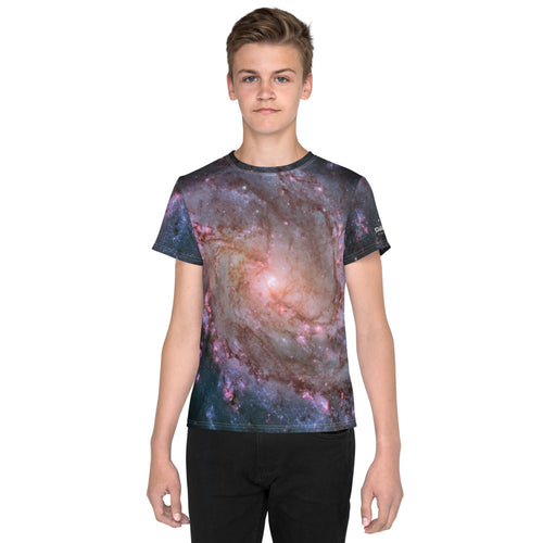 M83 Spiral Galaxy by Hubble Kids T-Shirt (Toddler - Teen)
