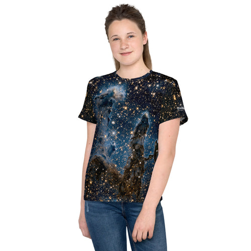 Pillars of Creation in Infrared by Hubble Kids T-Shirt (Toddler - Teen)