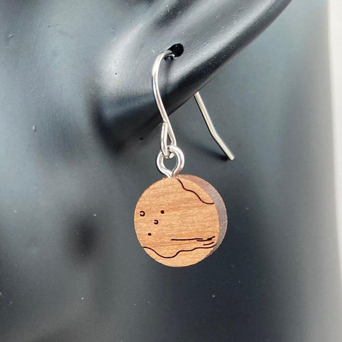 Mars Wood Earrings