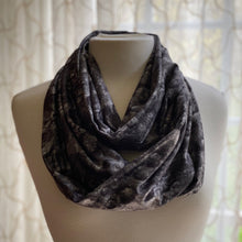 Load image into Gallery viewer, Moon Print Infinity Scarf