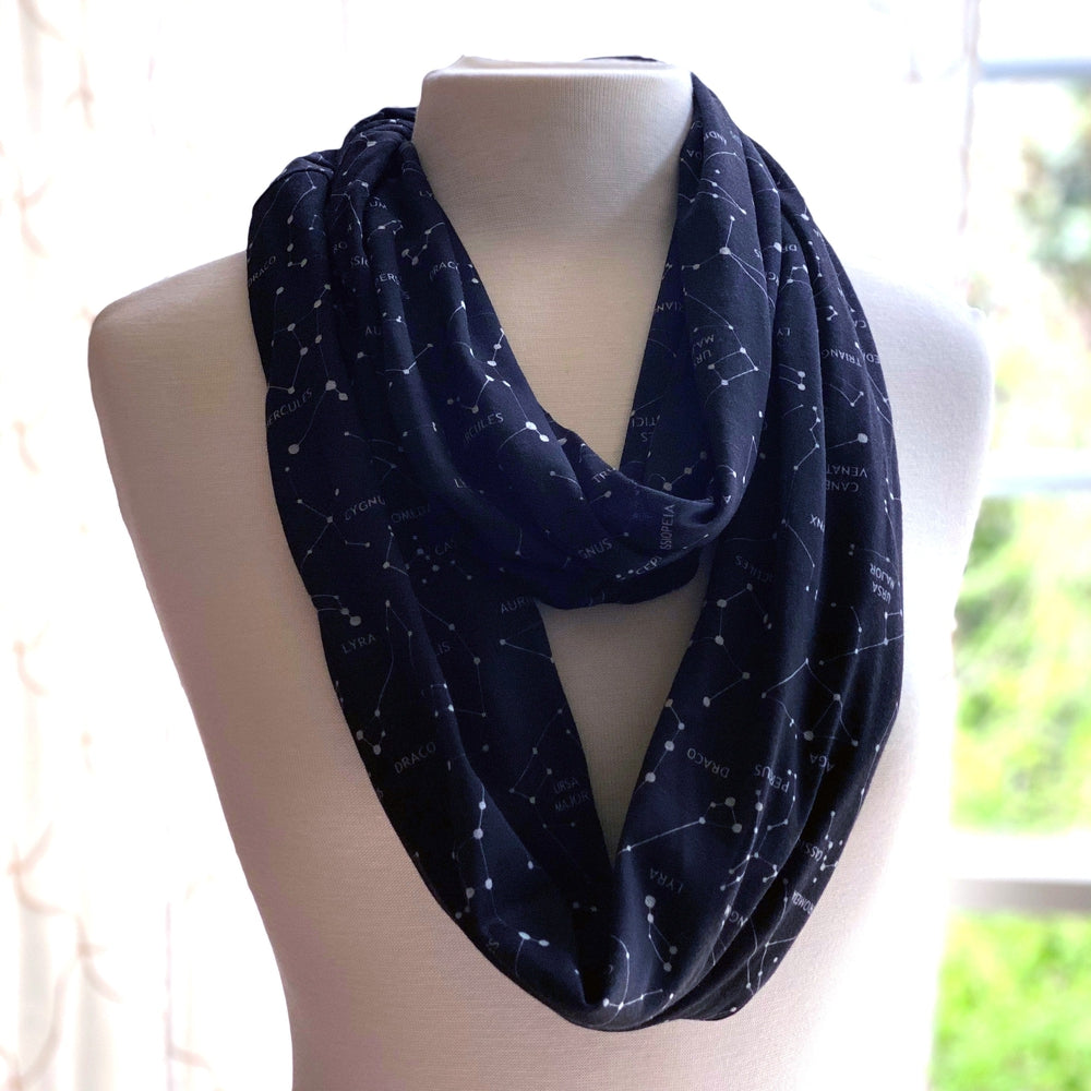 Constellation Names Pocket Infinity Scarf