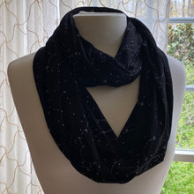 Load image into Gallery viewer, Constellations Glow-In-The-Dark Infinity Scarf