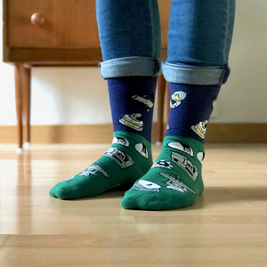 Telescope Color-Block Socks