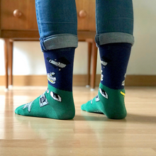 Load image into Gallery viewer, Telescope Color-Block Socks