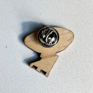 VLA Radio Telescope Wood Pin