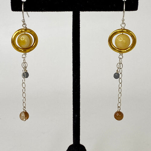 Saturn Dangle Earrings