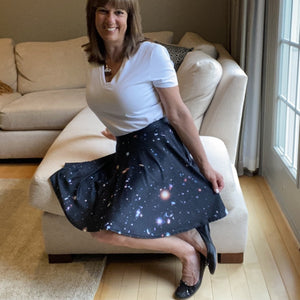 Hubble eXtreme Deep Field Skater Skirt
