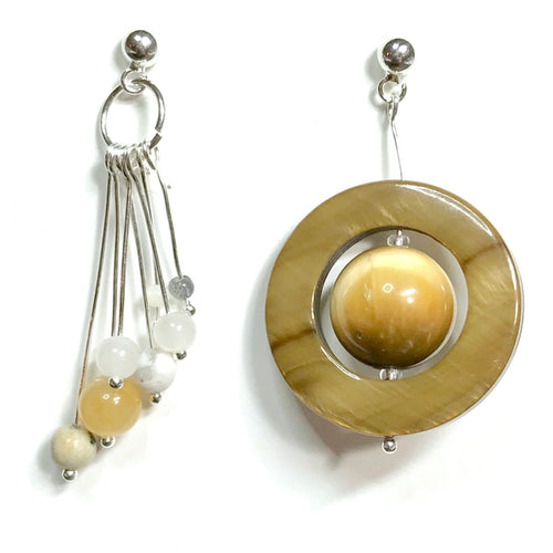 Saturn & Moons Beads Earrings Kit