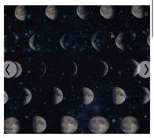 Load image into Gallery viewer, Moon Phases Pleated Cotton Face Mask