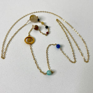 Solar System Gold-Plated Necklace