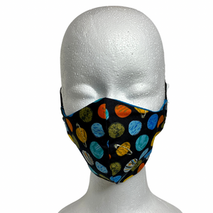 Space Print Contour Cotton Face Mask