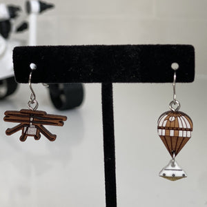 *Special Edition* Mars Ingenuity Helicopter + Parachute with Capsule Earrings