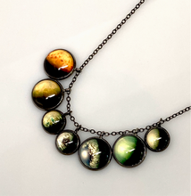 Load image into Gallery viewer, TRAPPIST-1 Exoplanets Cluster Necklace