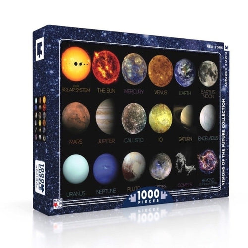 Solar System Objects 1000-Piece Puzzle