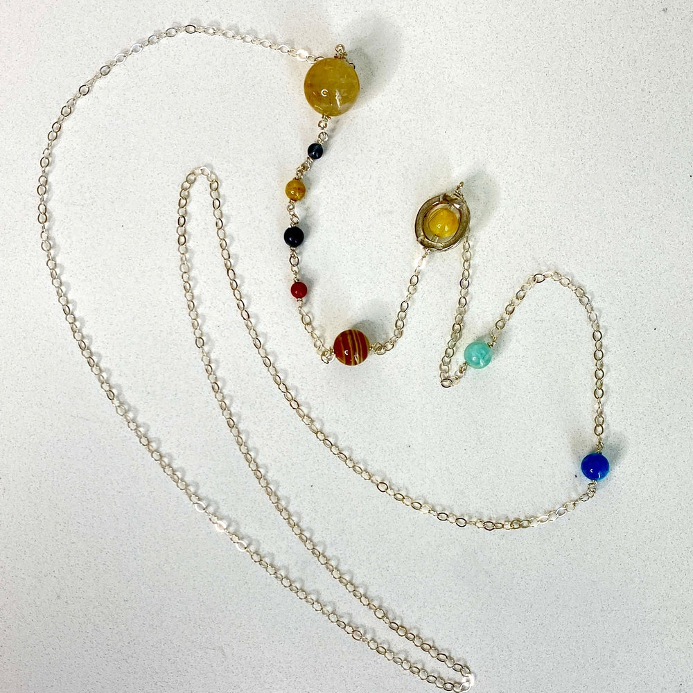 Solar System Sterling Silver Necklace