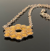 Load image into Gallery viewer, James Webb Space Telescope Mirrors Necklace
