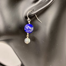 Load image into Gallery viewer, Earth + Moon Dangle Earrings