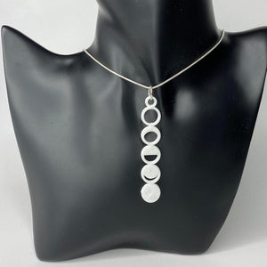 Moon Phases 3D Printed Necklace