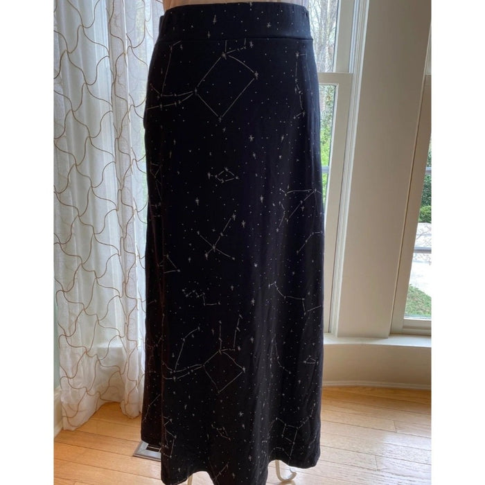 Constellations Glow-In-The-Dark Print Maxi Skirt