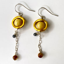 Load image into Gallery viewer, Saturn Dangle Earrings
