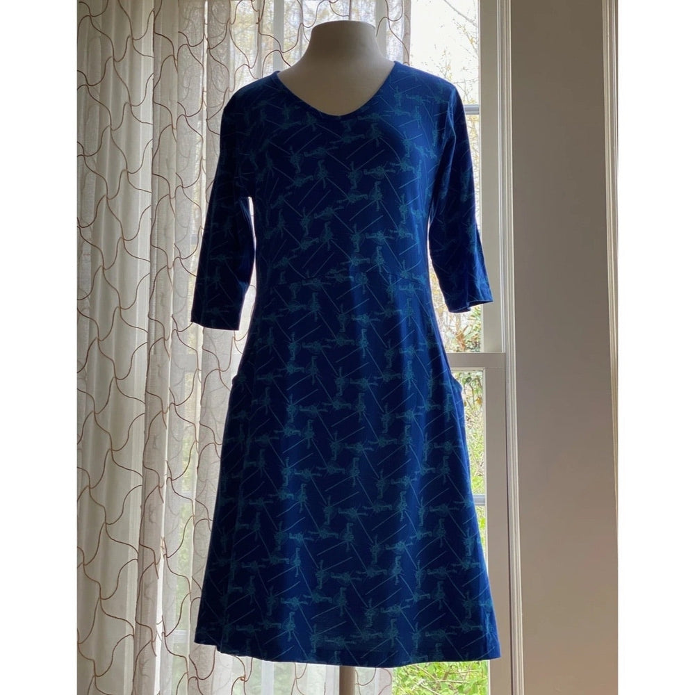 Voyager Print Fit & Flare Dress