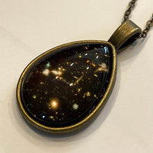 Load image into Gallery viewer, Hubble Deep Field Teardrop Pendant Necklace