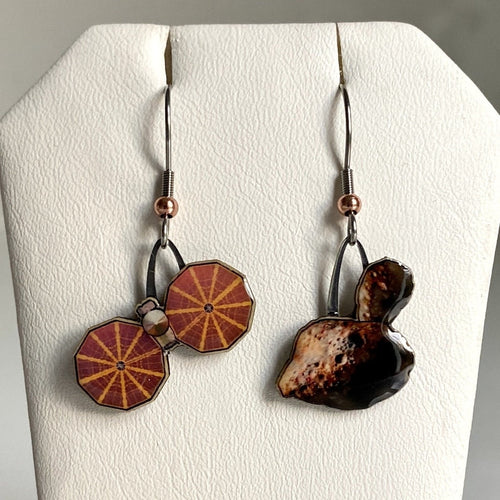 Lucy Mission + Trojan Asteroid Upcycled Paper Earrings