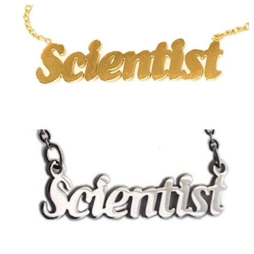 Scientist Nameplate Necklace