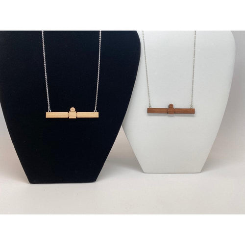 Rosetta Spacecraft Wood Necklace