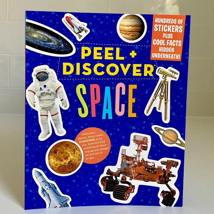 Peel + Discover Space Sticker Book