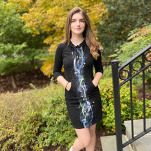 Load image into Gallery viewer, Nebula Hand-Painted Hoodie Pocket Dress