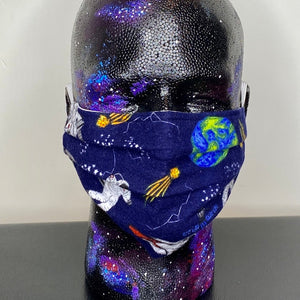 Space Exploration Pleated Cotton Face Mask
