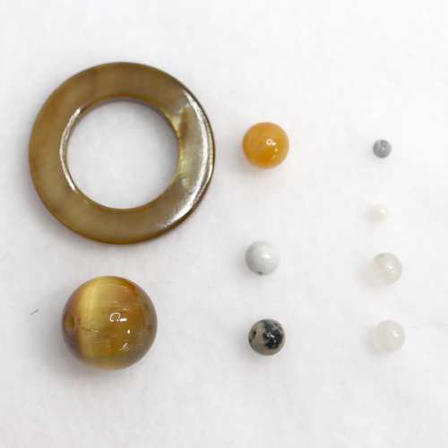 Saturn & Moons Beads