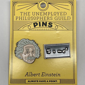 Albert Einstein Enamel Pin Set