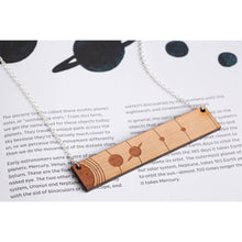 Load image into Gallery viewer, Solar System To Scale Horizontal Wood Necklace