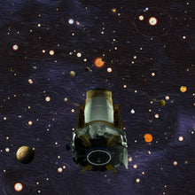 Load image into Gallery viewer, Kepler Space Telescope Wood Cufflinks