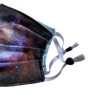 Nebula Image Pleated Cotton Face Mask