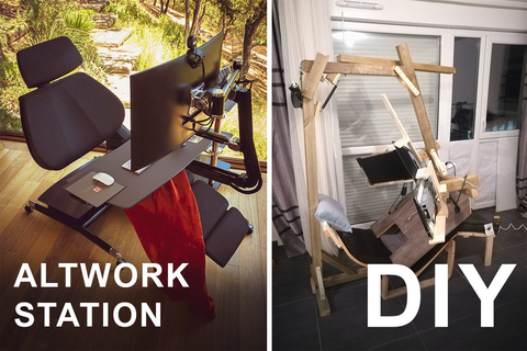 The Altwork Station compared to Paul's DIY workstation.