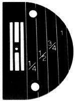 Standard 4 Row Plain Sewer Throat Plate with Imperial Marking