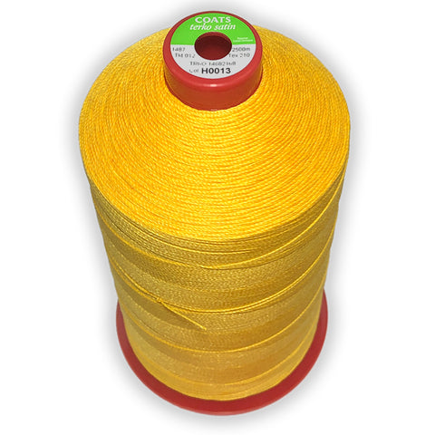 Coats Terko Satin Thread. Ticket: 12 Tex: 210 Cotton Wrapped Polyester - 2500m