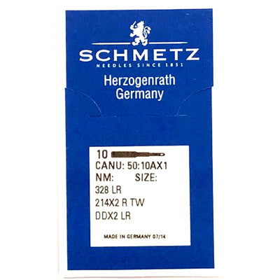 Schmetz Walking Foot Leather Needles. 328LR, 428LR, 214x2RTW ,DDX2LR