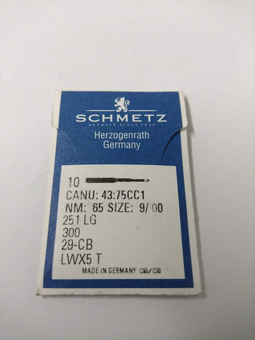 Schmetz Blind Hemming Machine Needles. 251LG 300 LWx5T