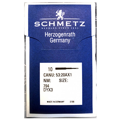 Schmetz Large Machine Walking Foot Needles. 794 , SY5213 , 7X3 DYx3.