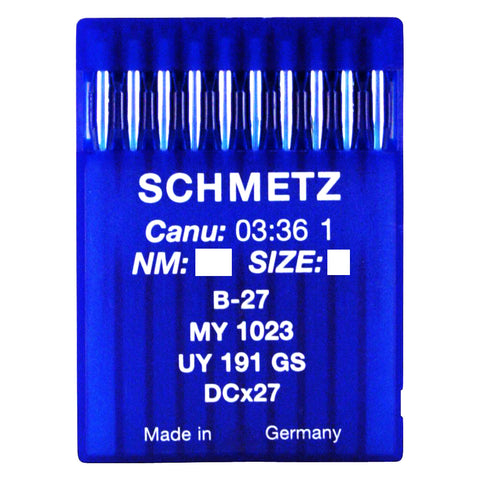 Schmetz Industrial Overlocker Needles. B27 MY1023 UY191GS DCx27